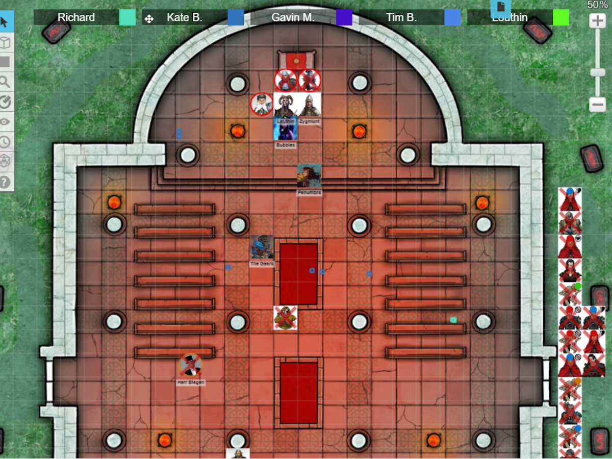 The characters stop the Blood Wedding inside the Midnight Temple of Chernobog